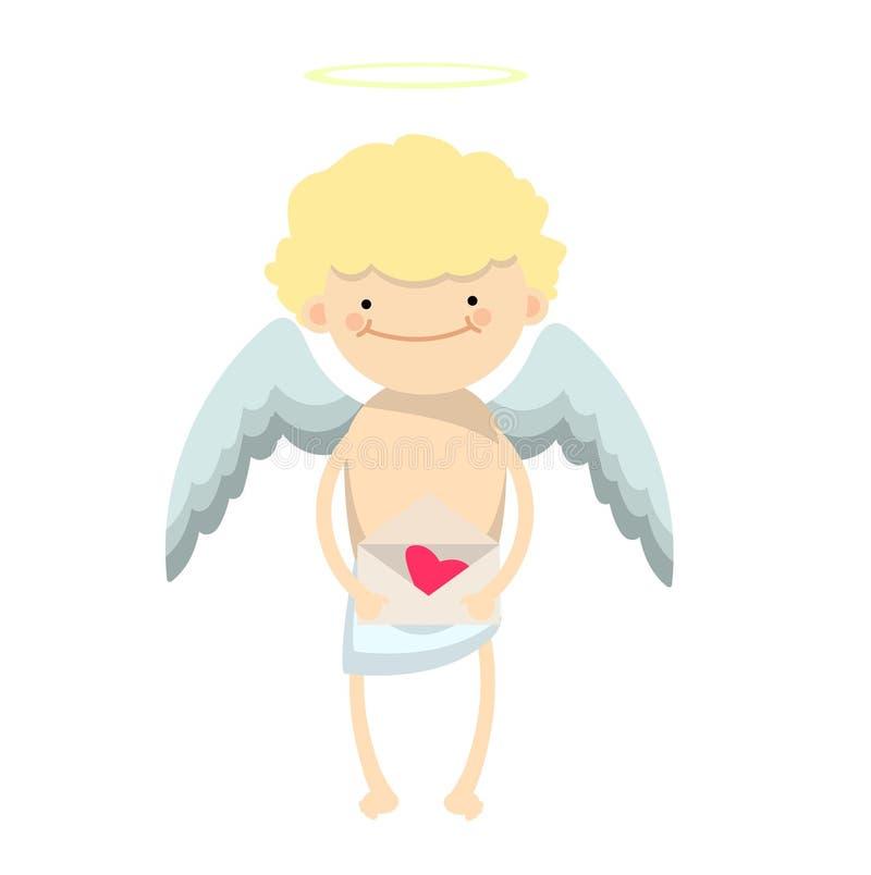 Angel boy character royalty free illustration