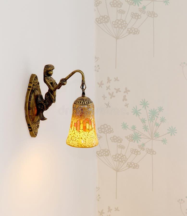 Angel brass lantern royalty free stock photography