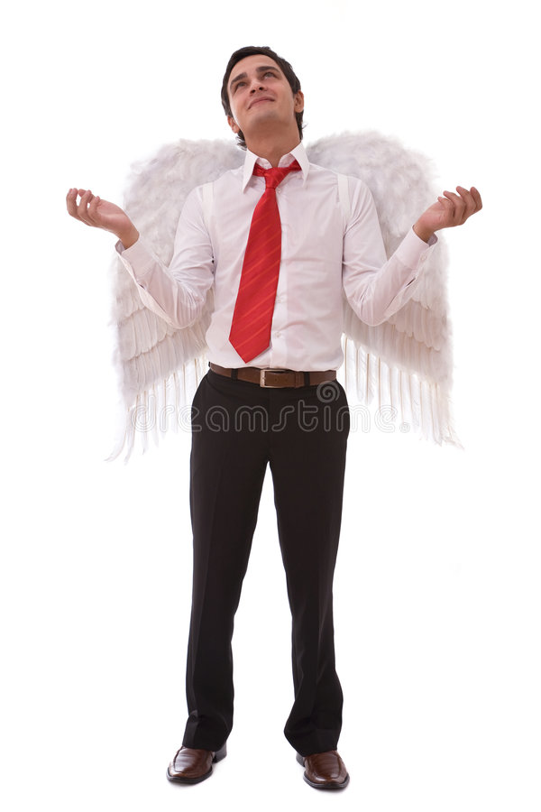 Angel businessman stock image