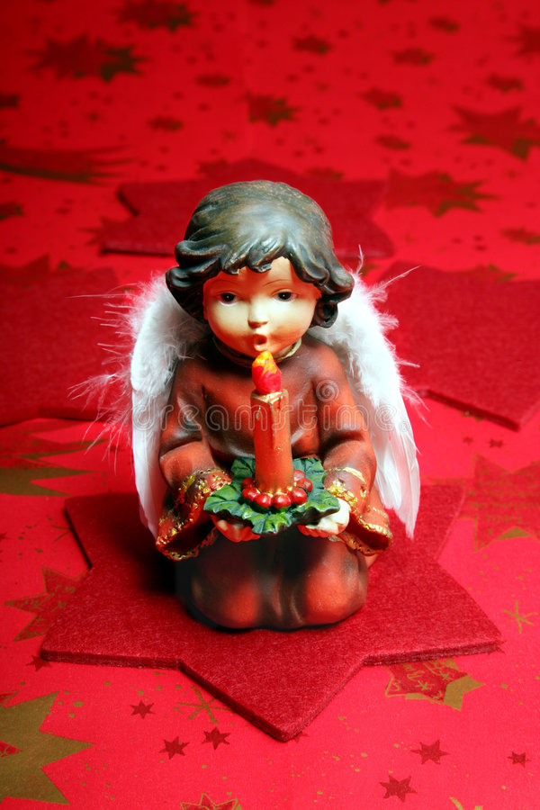 Angel with candle royalty free stock photos