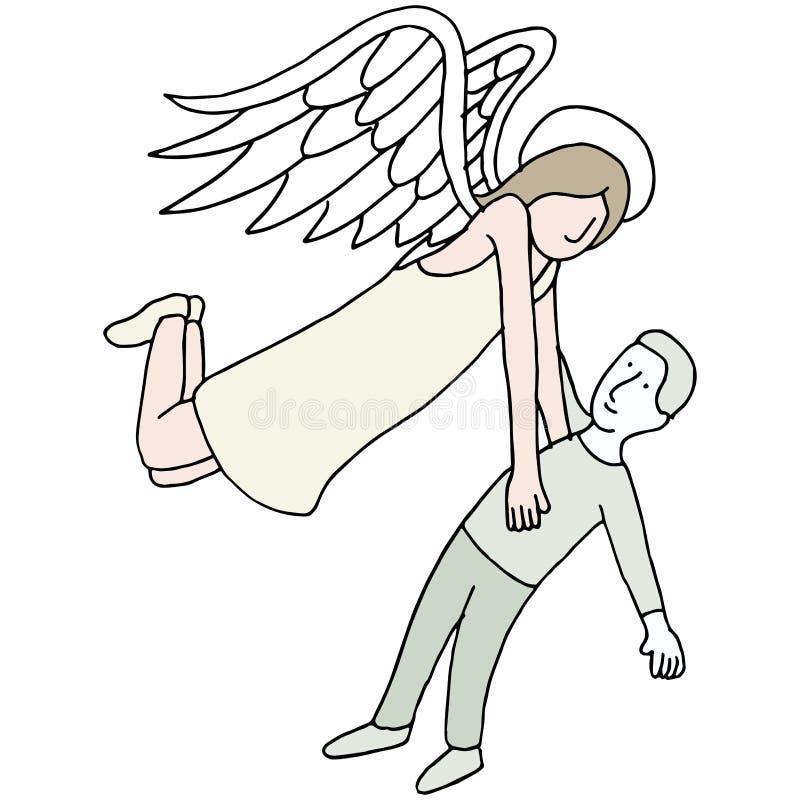 Angel Carrying Spirit vector illustration
