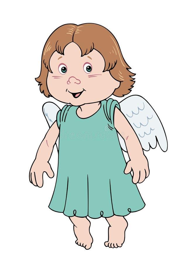 Angel Cartoon ilustração do vetor