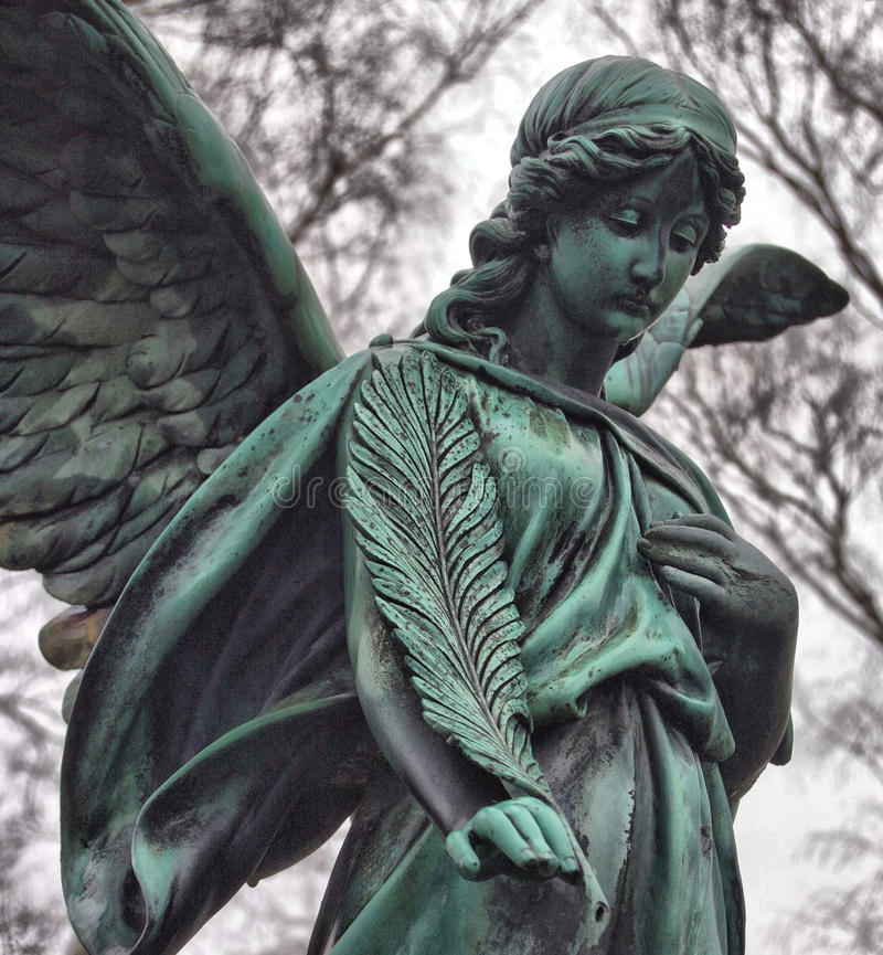 Angel on Cemetery stock photography