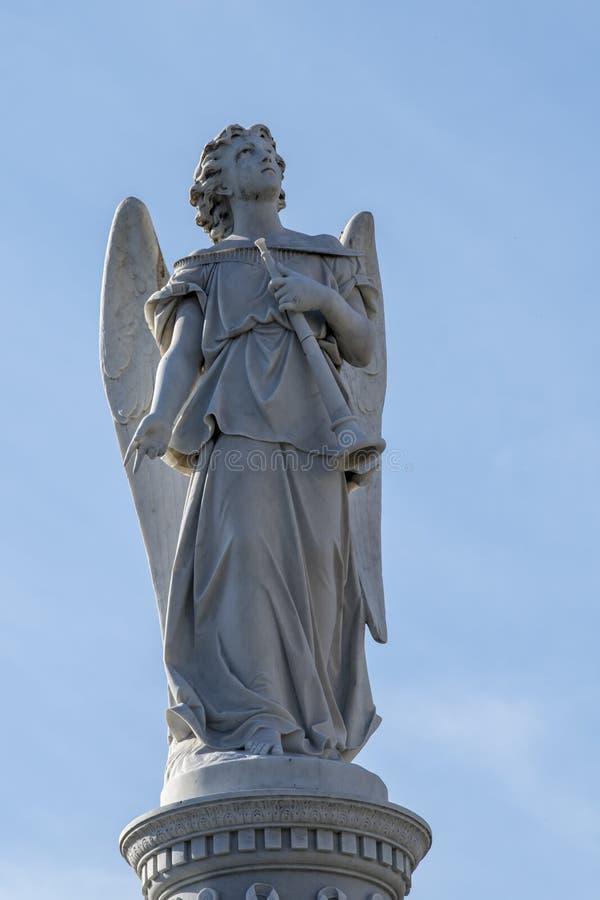 Angel on Cemetery, Havana, Cuba royalty free stock photography