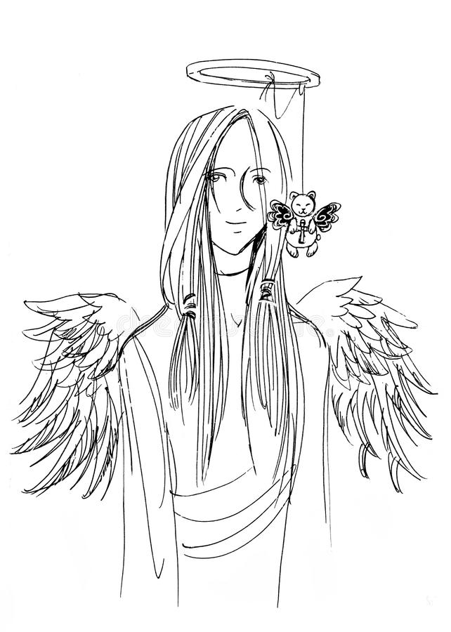 Angel Character ilustração stock