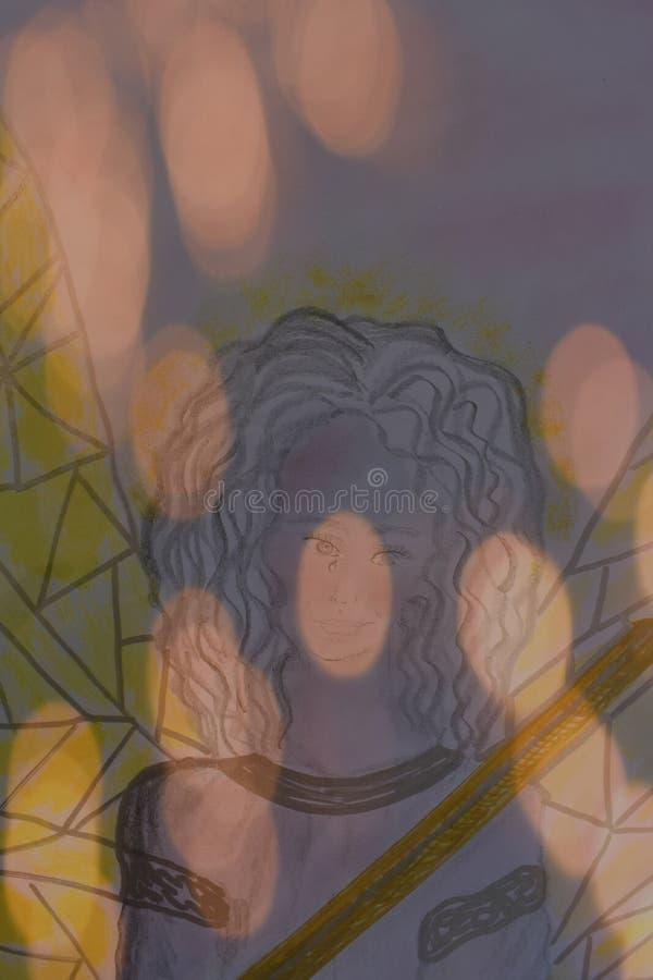 Angel Cherub stock illustrationer