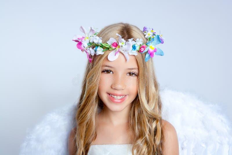 Angel children little girl portrait stock photography