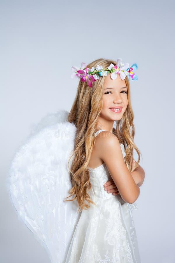 Angel children little girl portrait royalty free stock photo