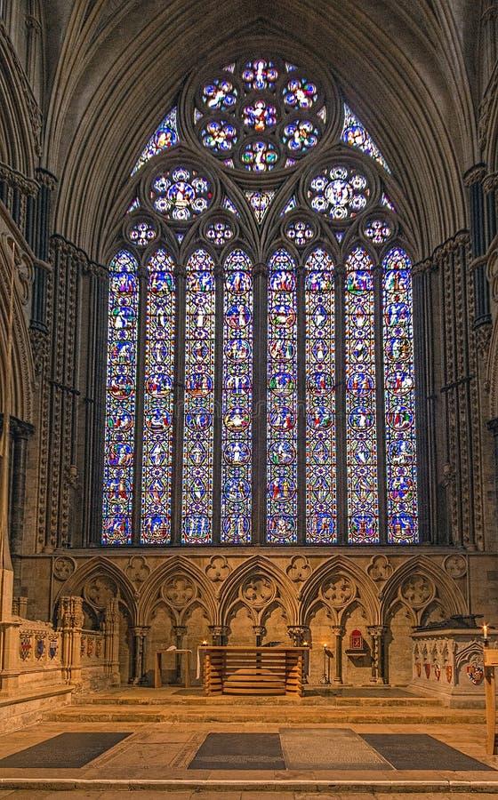 Angel Choir em Lincoln Cathedral imagem de stock