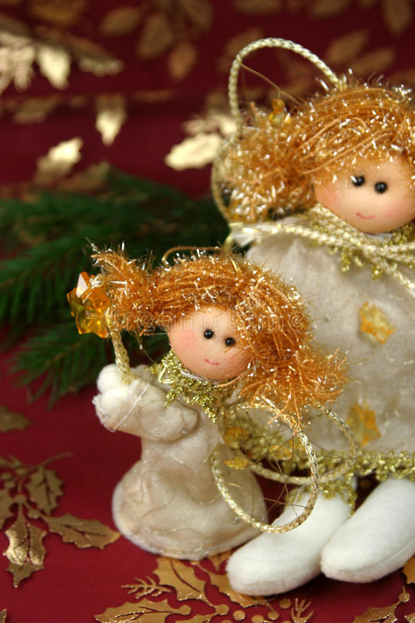 Angel Christmas decoration stock photos