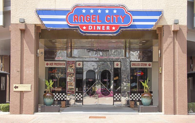Angel City Diner fotografia stock libera da diritti