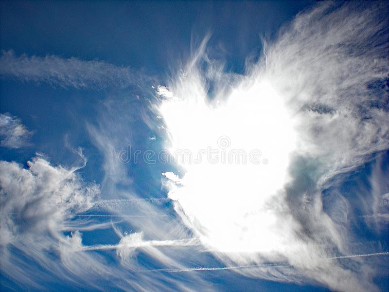 Angel Cloud in the Blue Sky. Cathedral City, California stock images