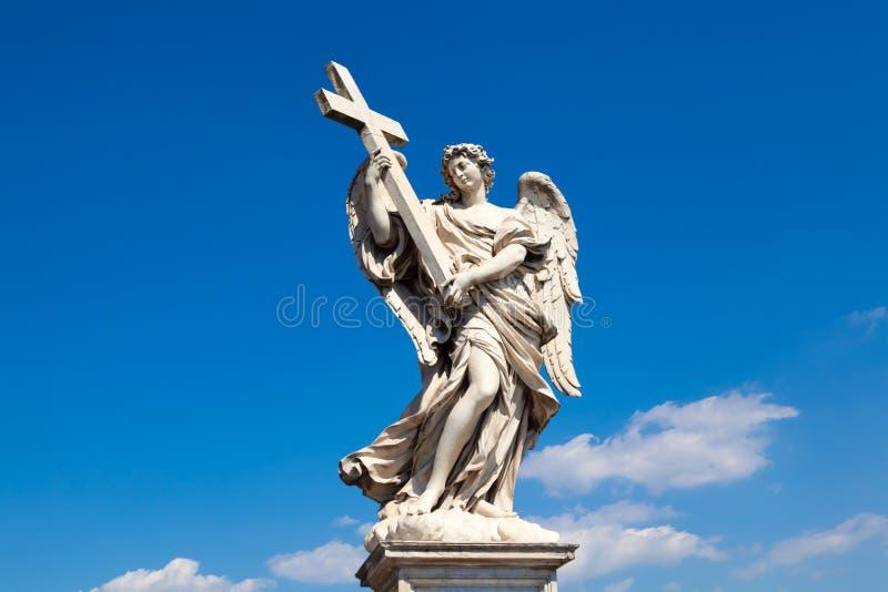 Angel with Cross stock image