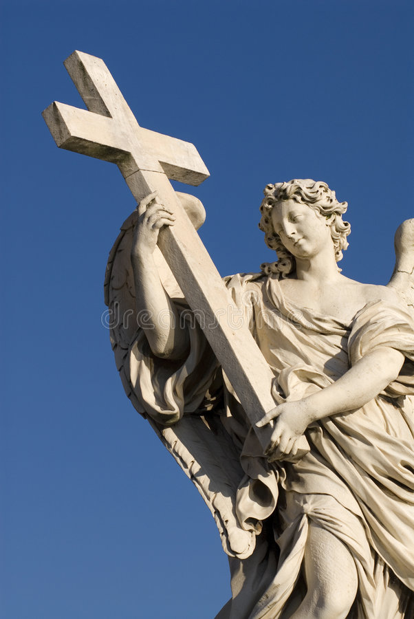 Angel cross up royalty free stock images