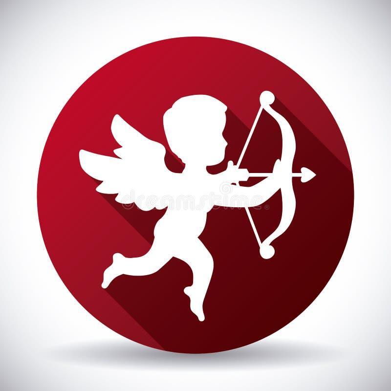 Angel Cupid vektor illustrationer
