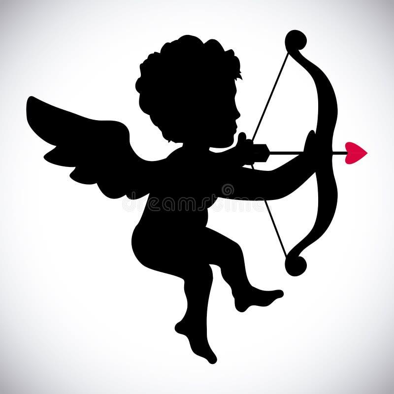 Angel Cupid royaltyfri illustrationer