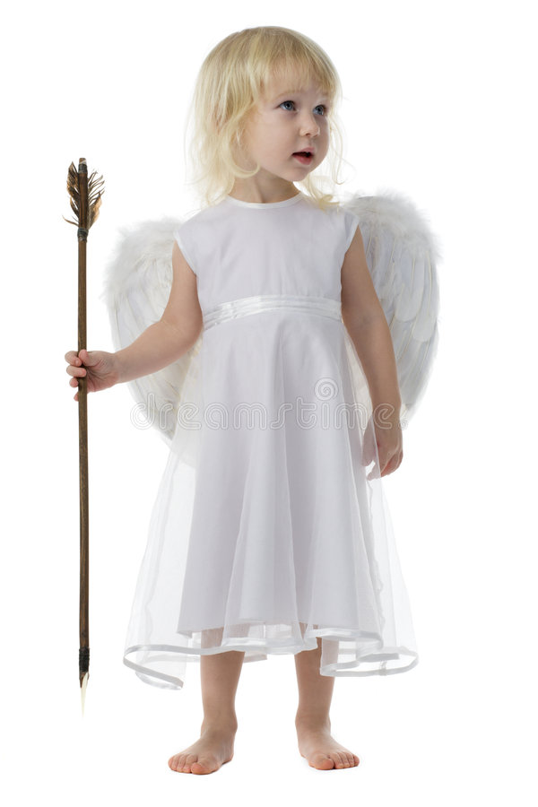 Angel with Cupid arrow royalty free stock images