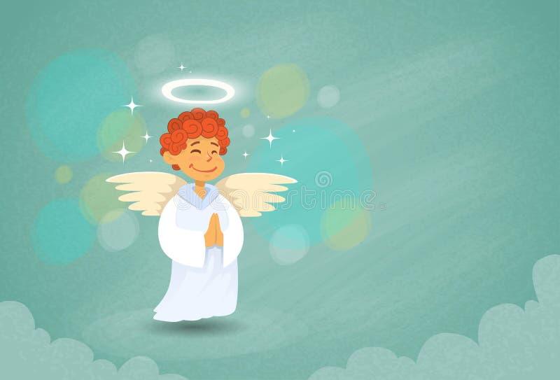 Angel Cupid Saint Valentine Holiday des Valentinsgrußes lizenzfreie abbildung
