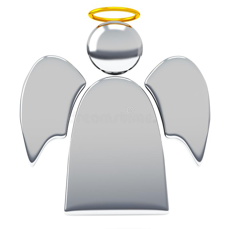 Angel 3d illustration Isolated white background royalty free stock images