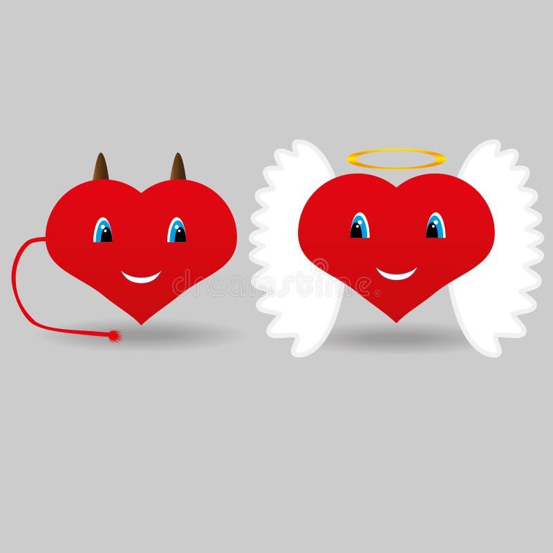 Angel&daemon illustrazione di stock