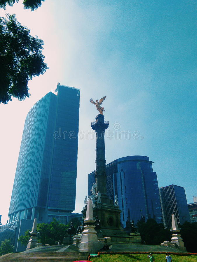 Angel de la independencia stock photo
