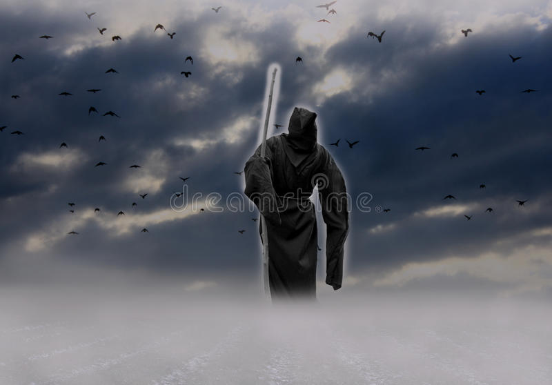 angel of death vector illustration