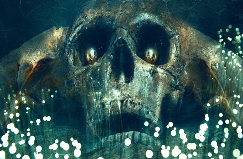 Angel Of Death Artwork Background artístico abstrato ilustração stock