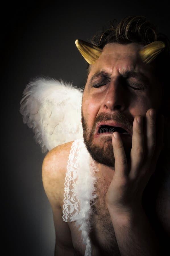 Angel Demon caído imagem de stock royalty free