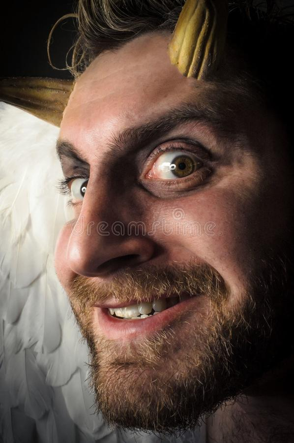 Angel Demon caído imagem de stock