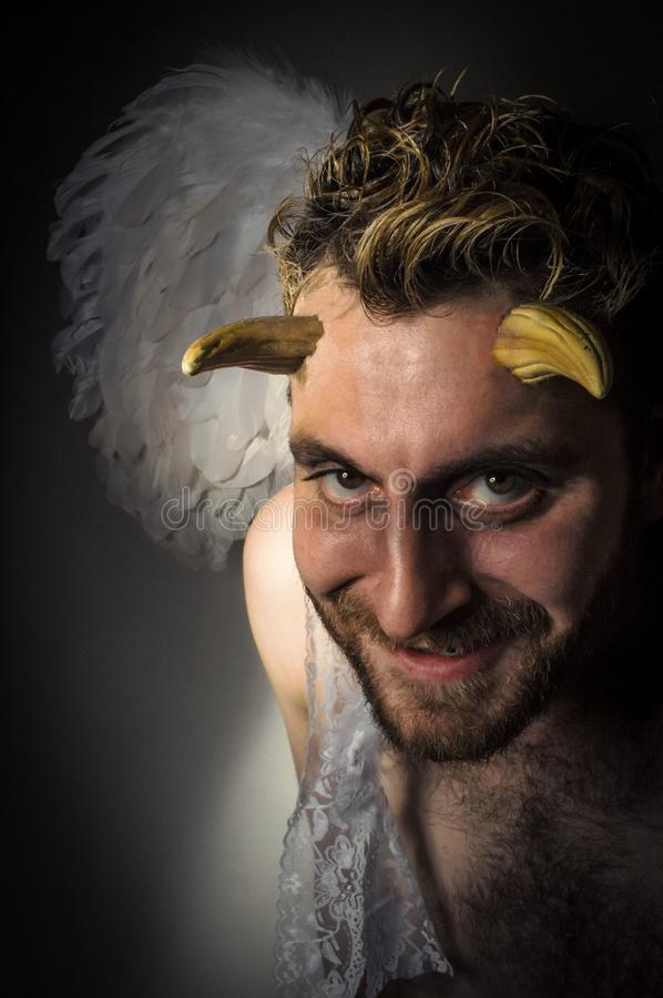 Angel Demon caído fotografia de stock