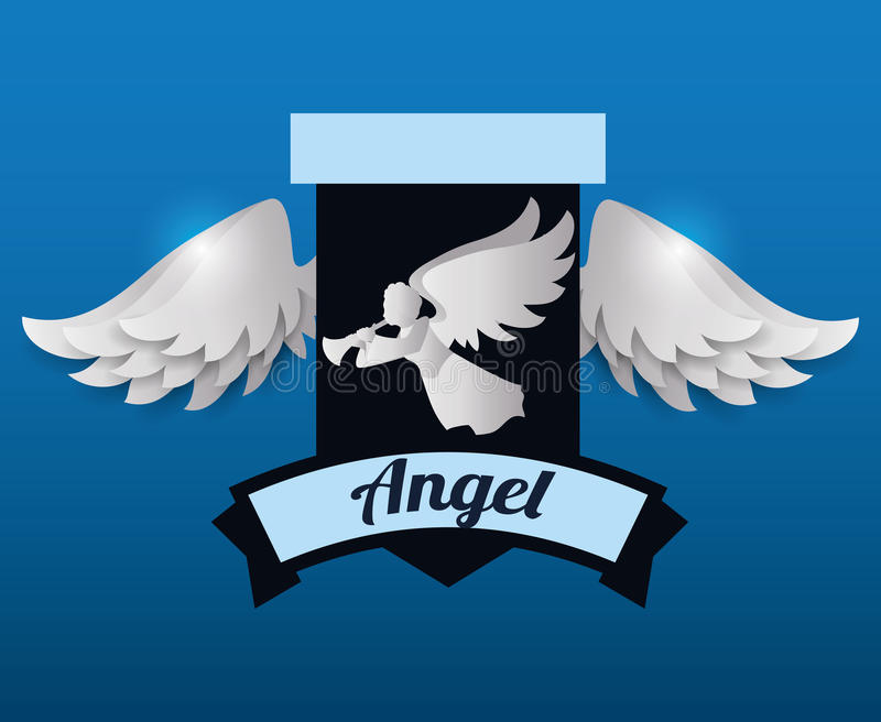 Angel design. Angel digital design, vector illustration 10 eps graphic stock illustration