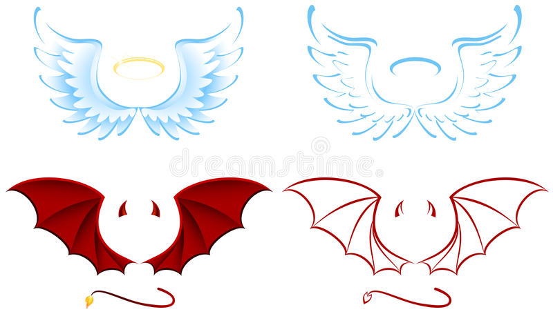 Angel And Devil Stock Images