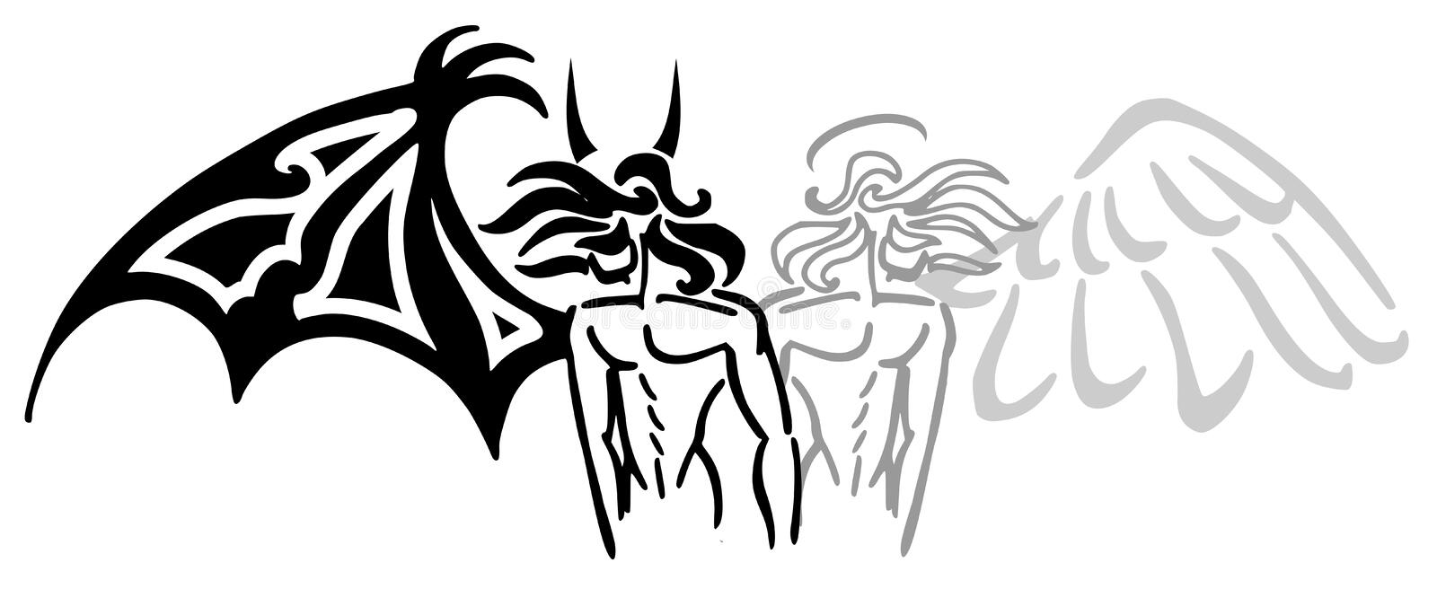 Angel and devil royalty free illustration