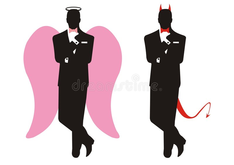 Angel and devil royalty free illustration