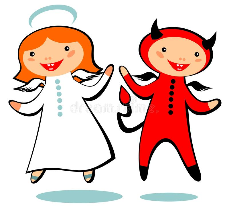 Download Angel and devil stock vector. Image of amusing, carnival - 34144644