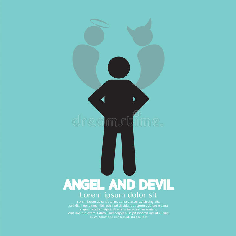 Angel And Devil Dark Side e lato positivo dell'essere umano royalty illustrazione gratis