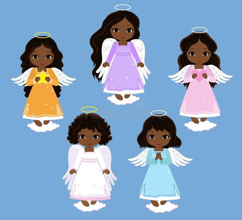 Angel Digital Clipart Ajuste meninas do anjo baptism ilustração royalty free
