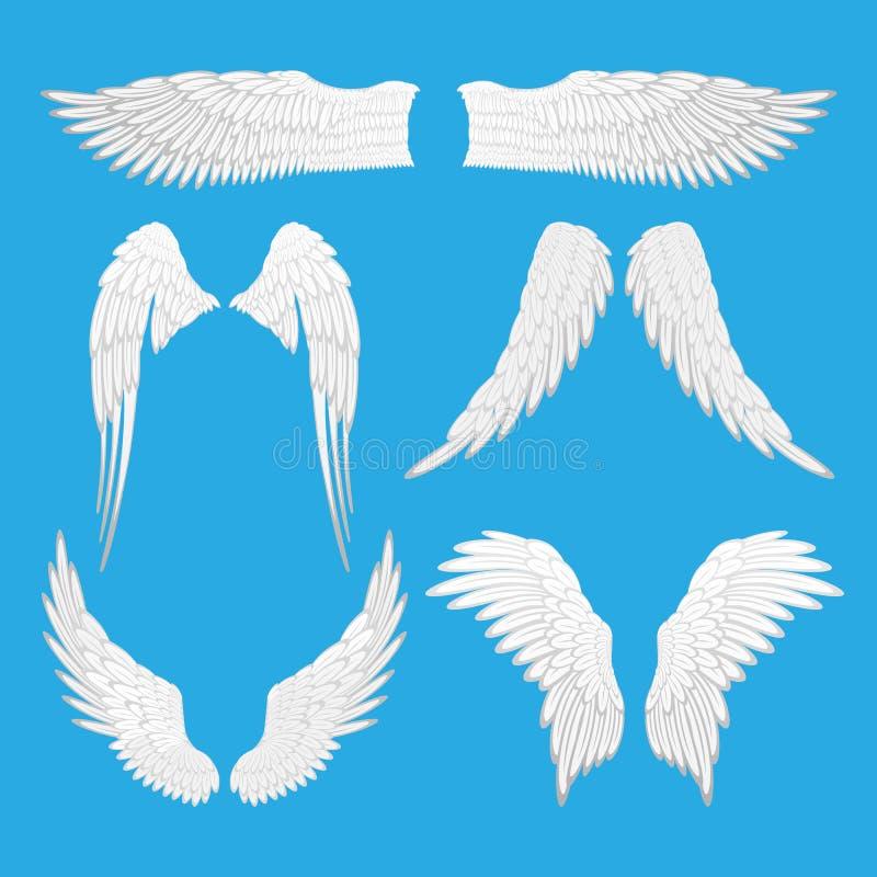 Angel Eagle Bird Wings Vector Illustration a isolé les éléments Editable illustration de vecteur