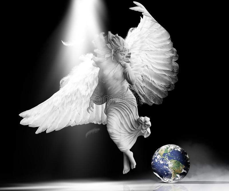 Download Angel earth stock photo. Image of intervene, wings, crisis - 21313178