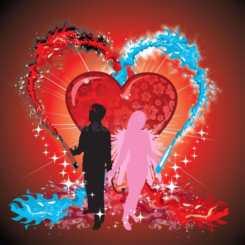 Angel Evil Love Sensation illustration de vecteur