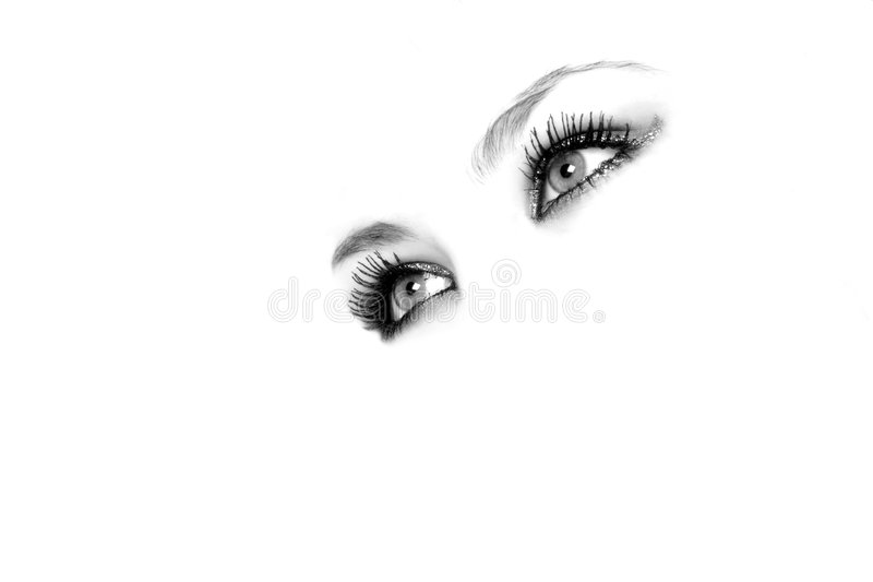 Angel eyes. Attractive female eyes with space for text royalty free stock photos