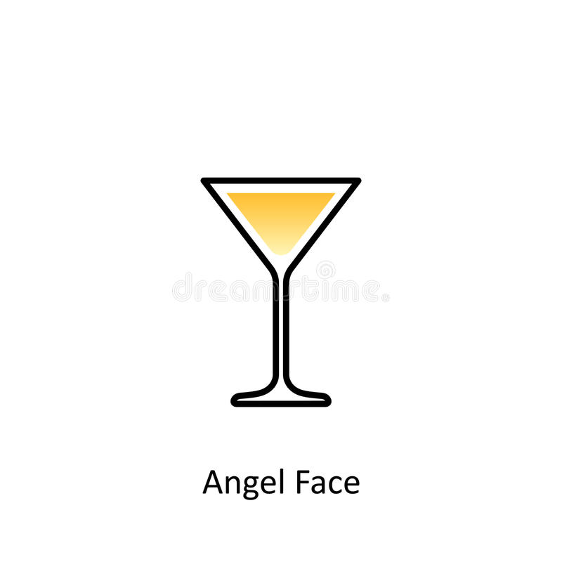 Angel Face-cocktailpictogram in vlakke stijl royalty-vrije illustratie