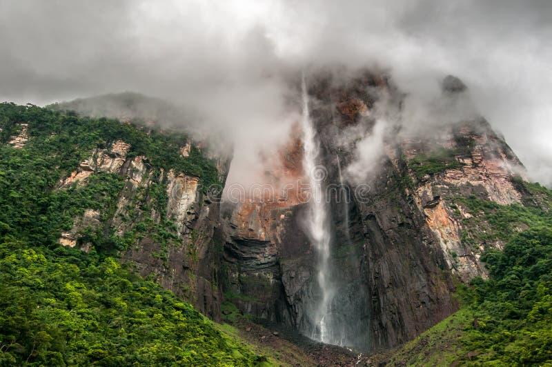 Angel Falls, der höchste Wasserfall der Welt, Venezuela stockfotos