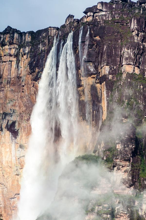Angel Falls Salto Angel. World`s highest waterfall 978 m , Venezuela stock photo