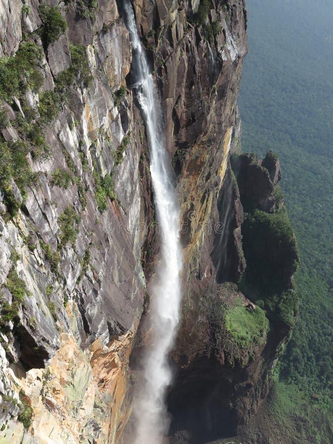 Angel Falls-waterval in Venezuela stock foto