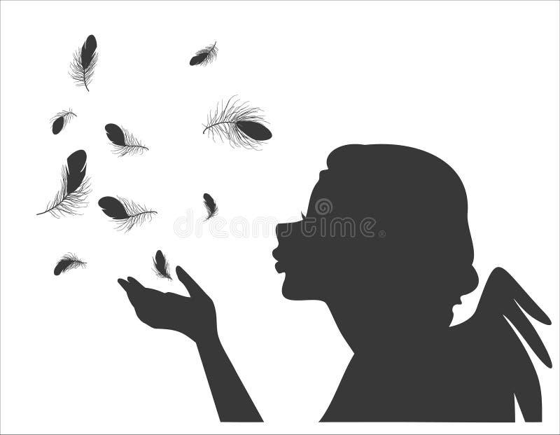 Angel feathers stock illustration