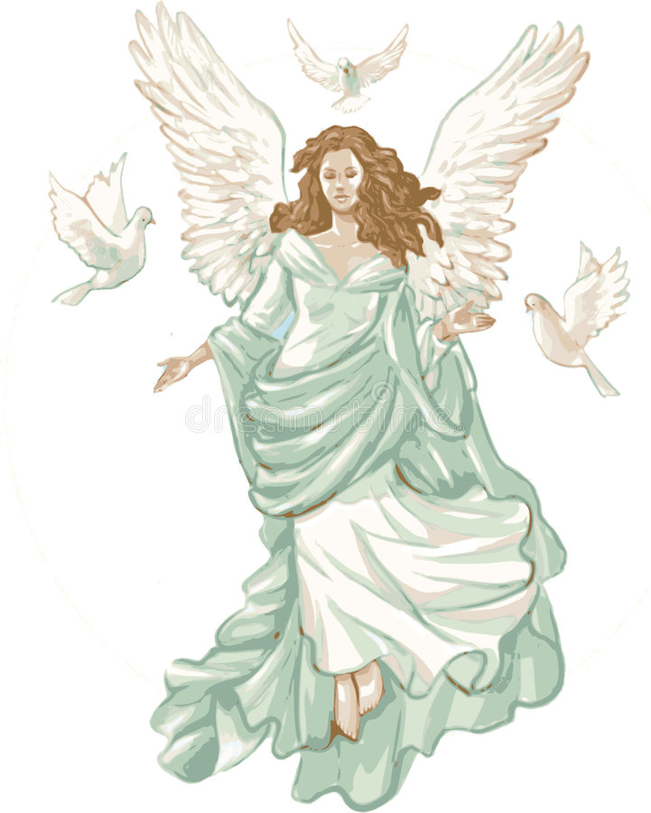 Free Angel Figure With Doves. Royalty Free Stock Photos - 3148718