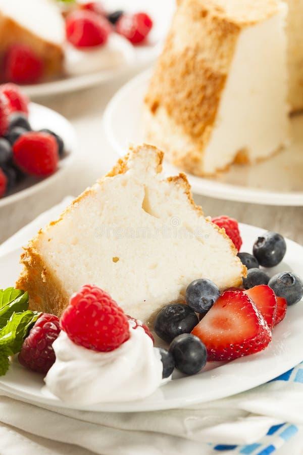 Angel Food Cake caseiro foto de stock