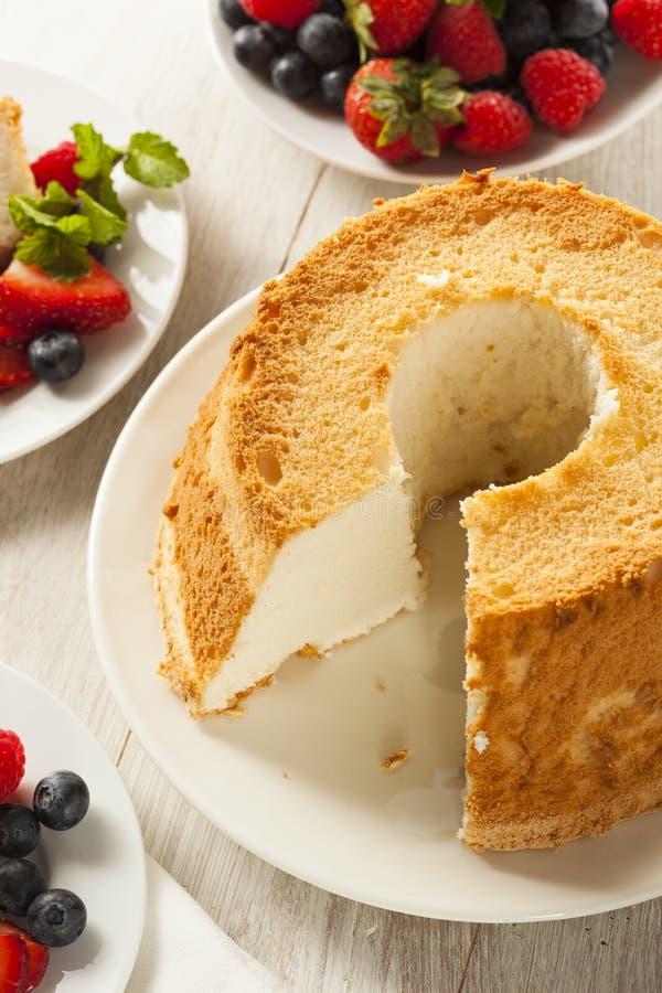 Angel Food Cake caseiro imagem de stock