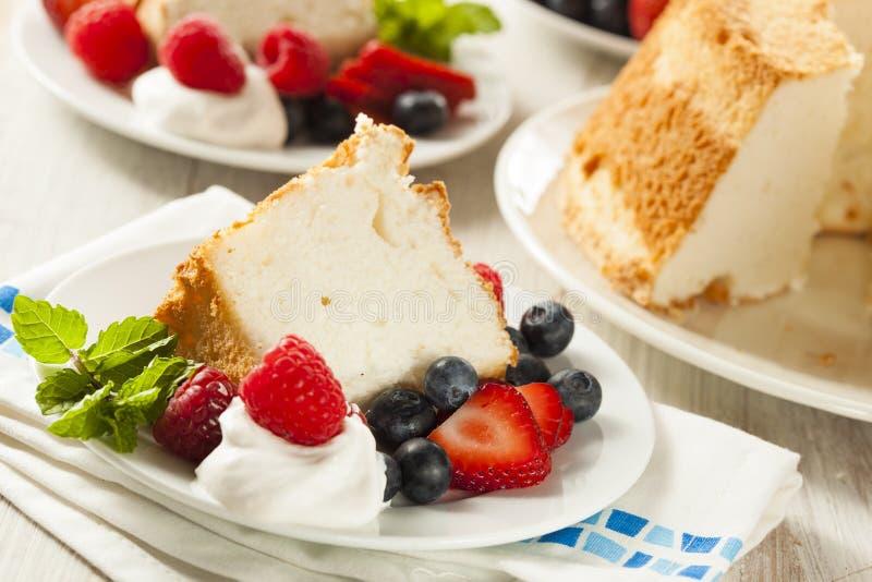 Angel Food Cake caseiro imagens de stock